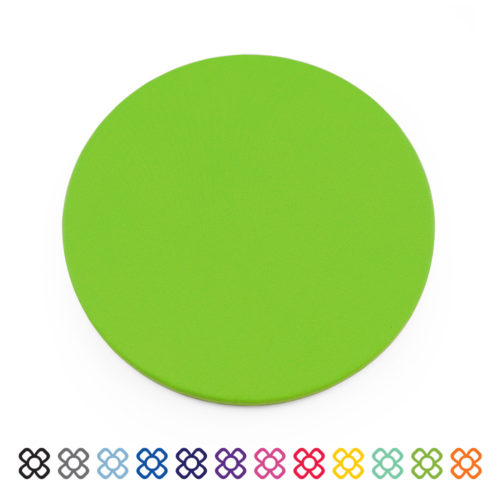 Pea Green Soft Touch Coaster