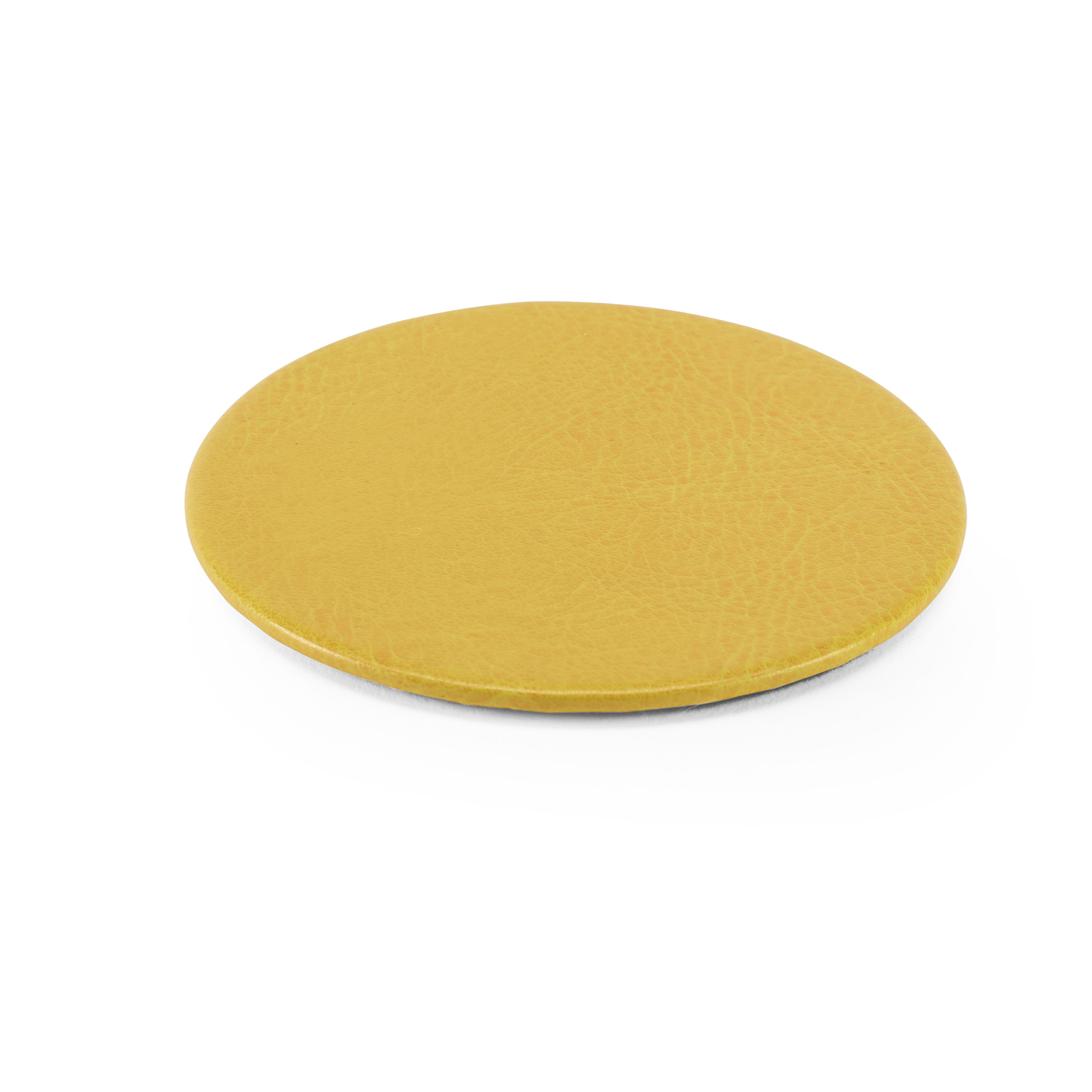 Lifestyle Round Coaster in Yellow