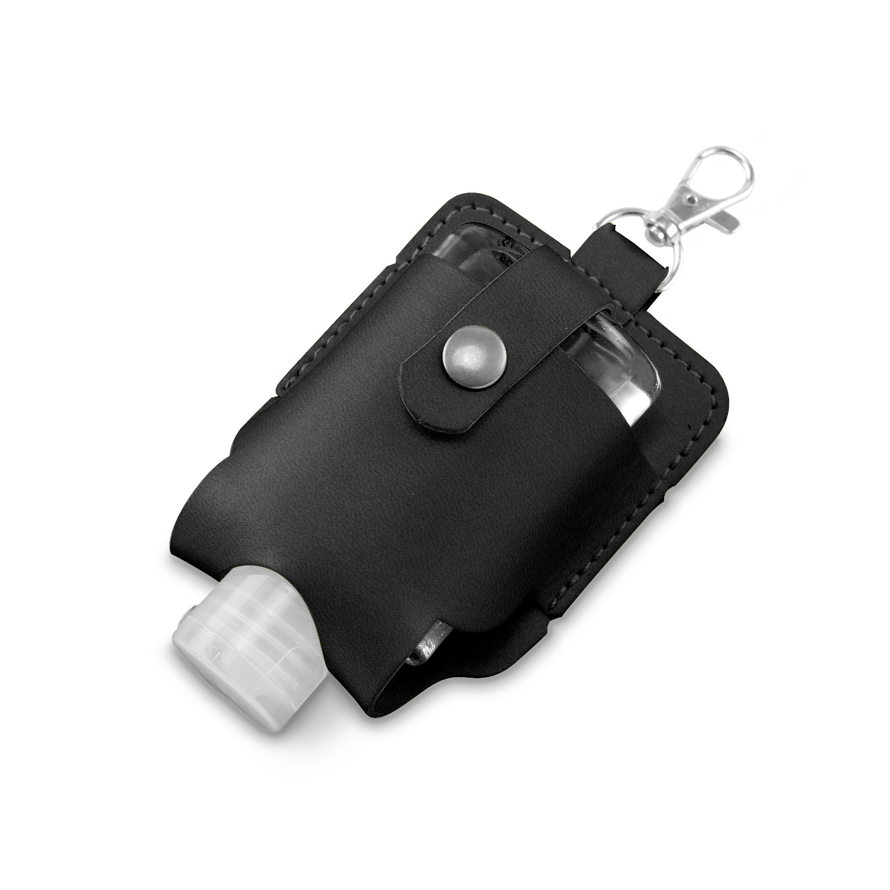 Black Soft Touch Hand Sanitiser Pouch with Sanitiser