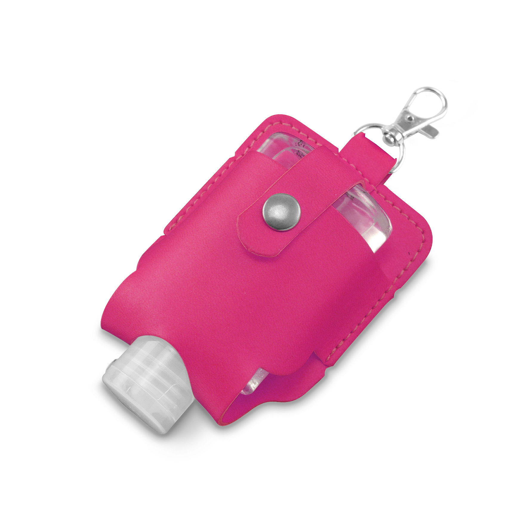 Hot Pink Soft Touch Hand Sanitiser Pouch with Sanitiser
