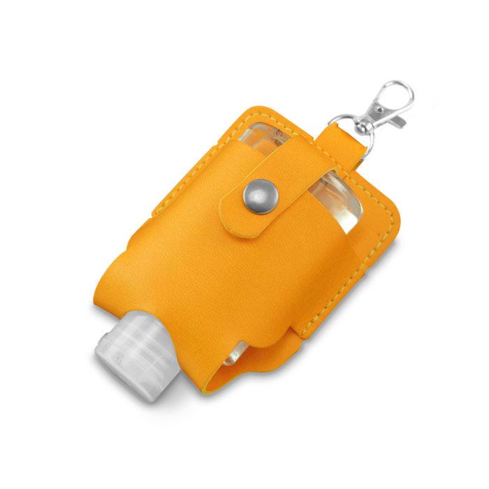 Orange Soft Touch Hand Sanitiser Pouch with Sanitiser