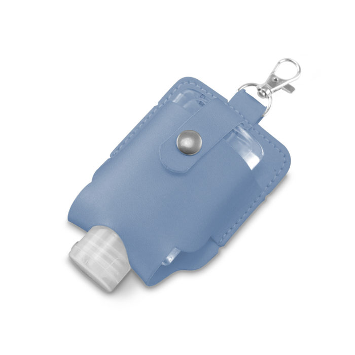 Powder Blue Soft Touch Hand Sanitiser Pouch with Sanitiser
