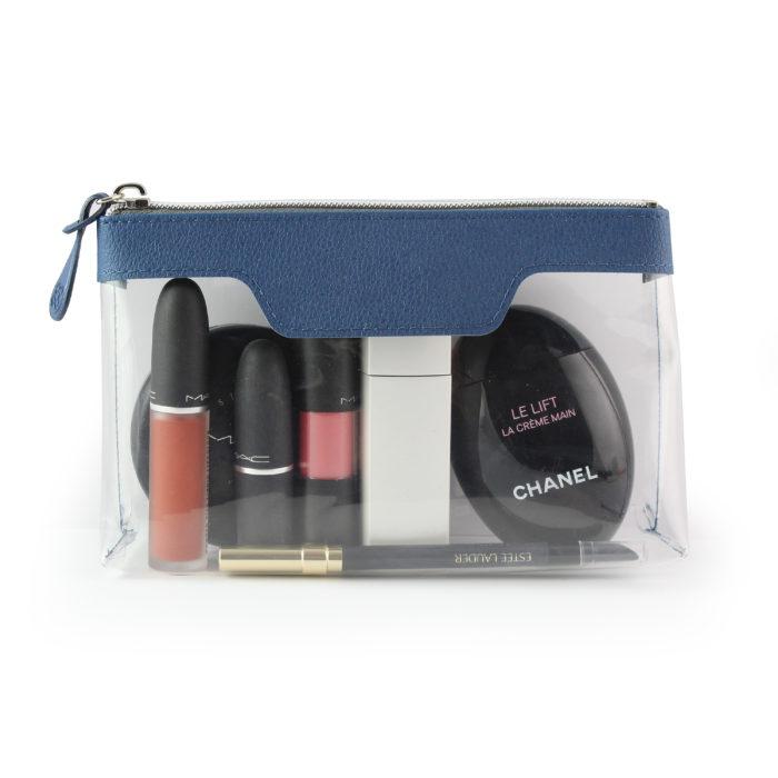 Blue como Zipped Travel or Cosmetics Bag