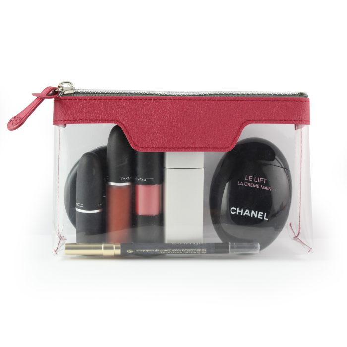 Raspberry Como Travel or Cosmetics Bag