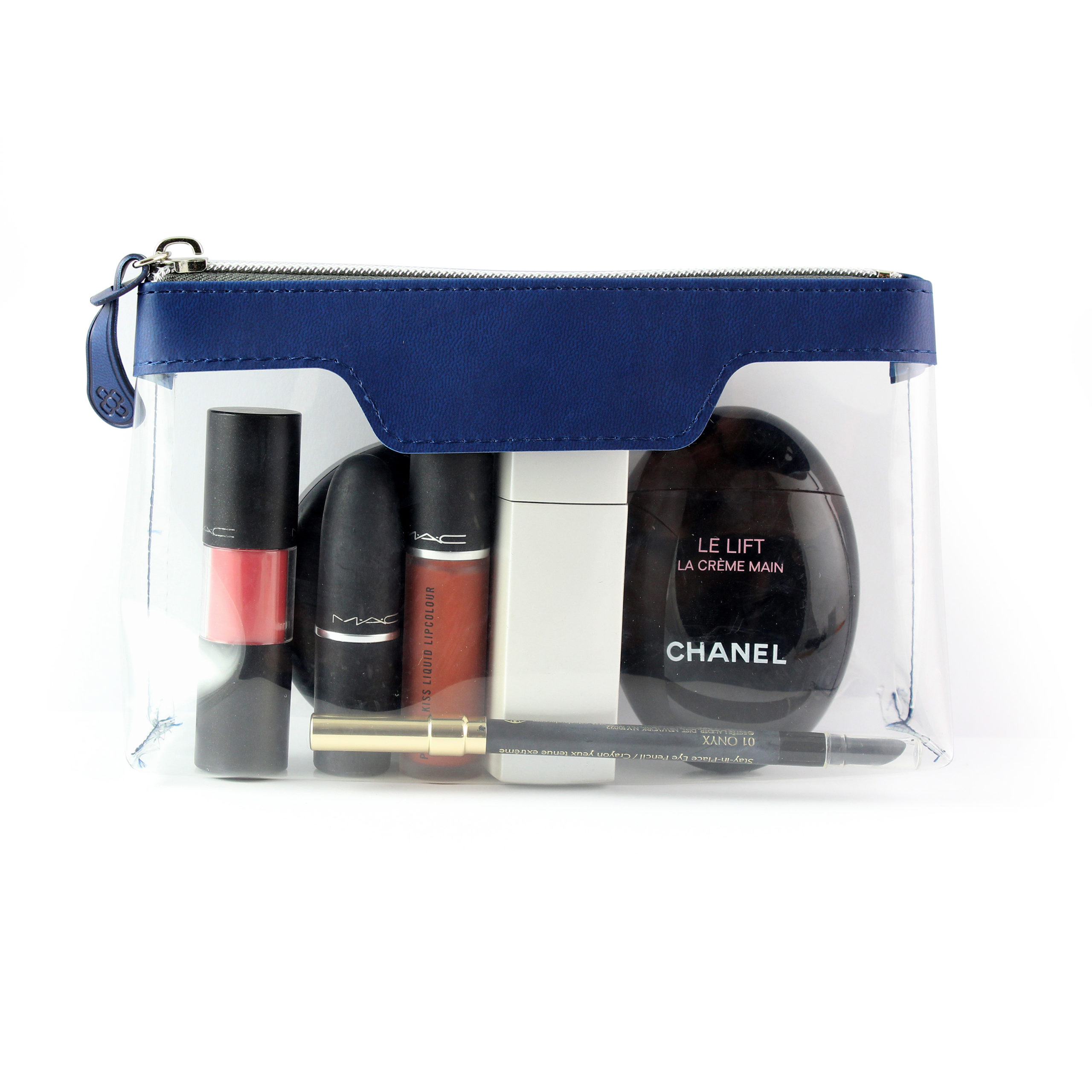 Marine Navy Soft Touch mall Zipped Travel Bag