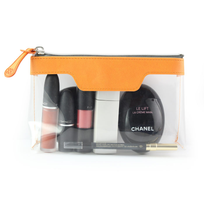 Orange Soft Touch mall Zipped Travel Bag