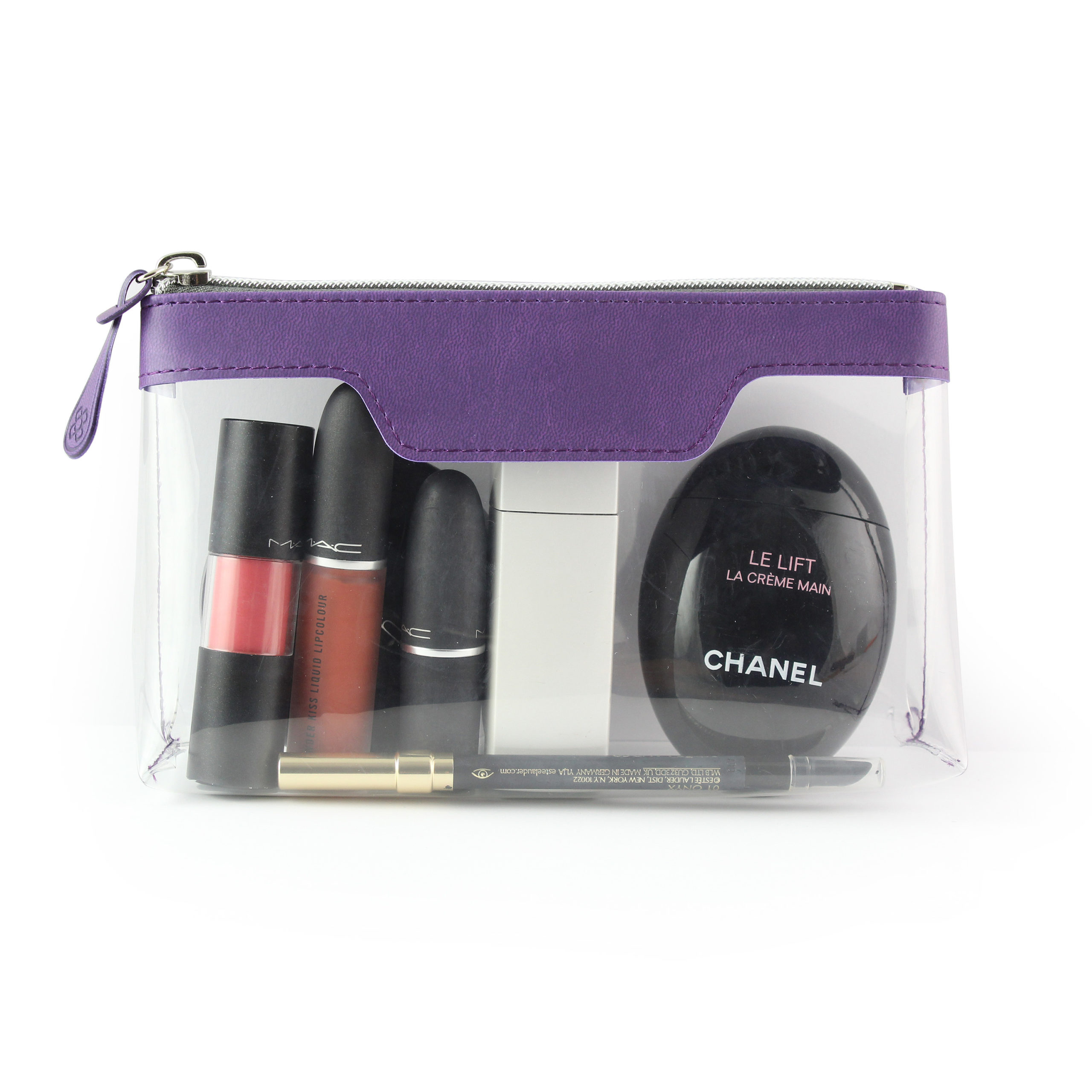 Purple Soft Touch mall Zipped Travel Bag