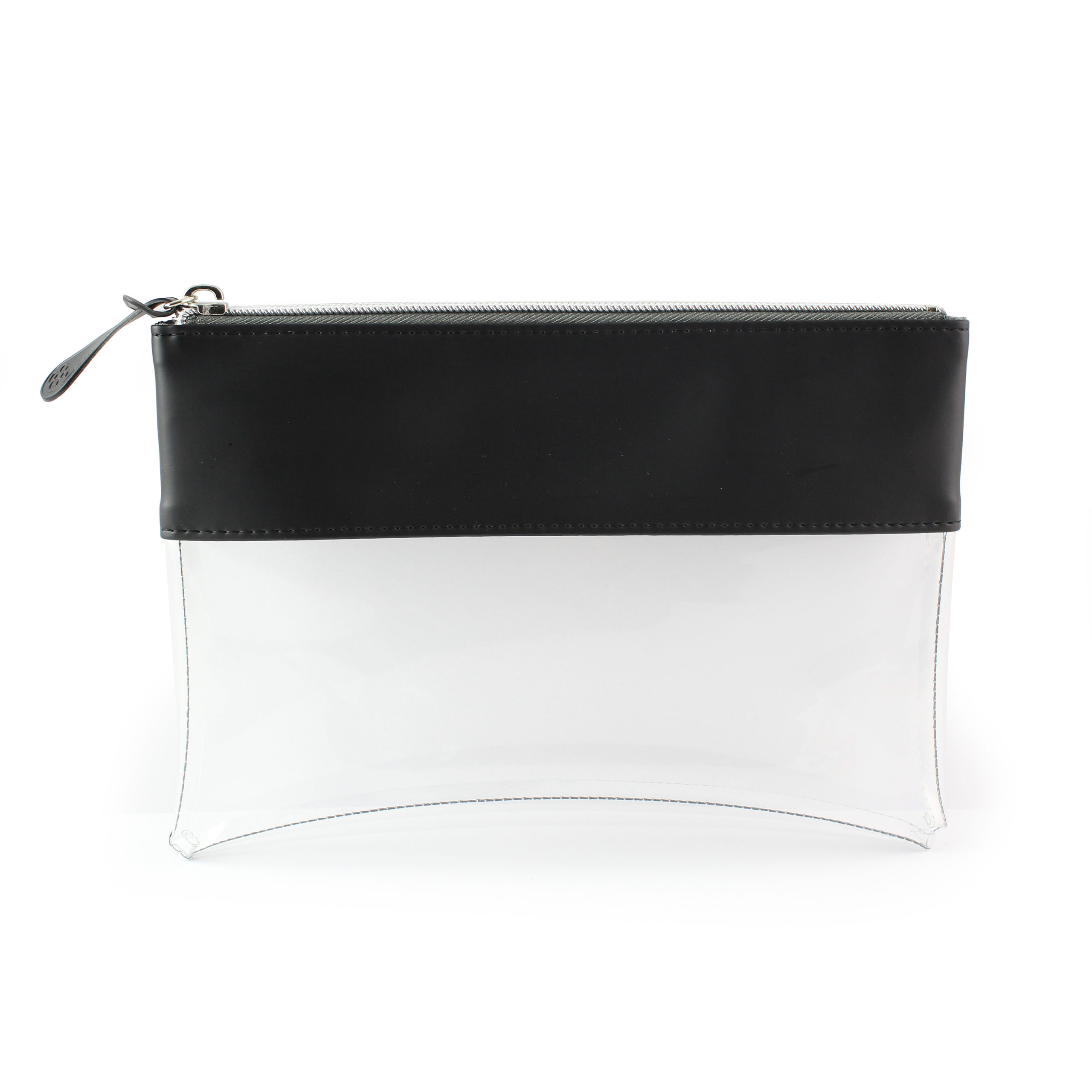 Black Clear Pouch ideal as a travel pouch or pencil case.
