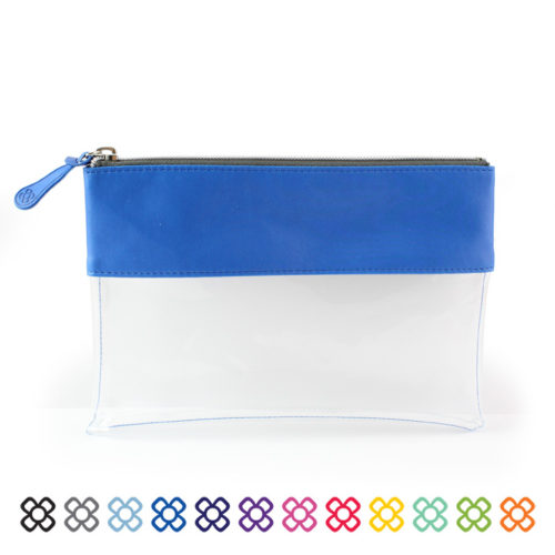 Clear Pouch ideal as a travel pouch or pencil case.