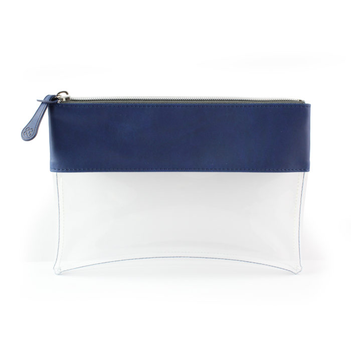 Marine Navy Clear Pouch ideal as a travel pouch or pencil case.