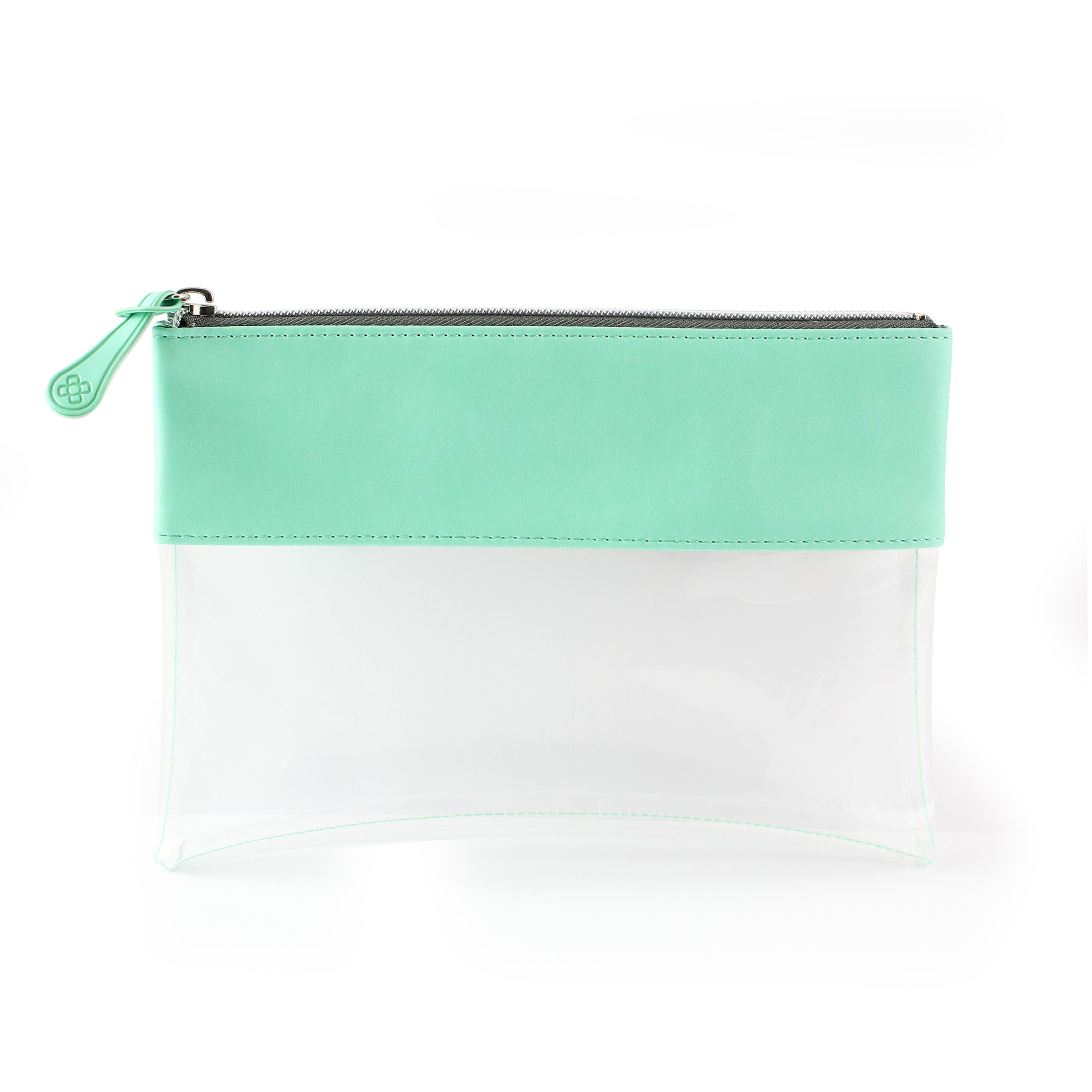 Peppermint Clear Zipped Pouch ideal as a travel pouch or pencil case.
