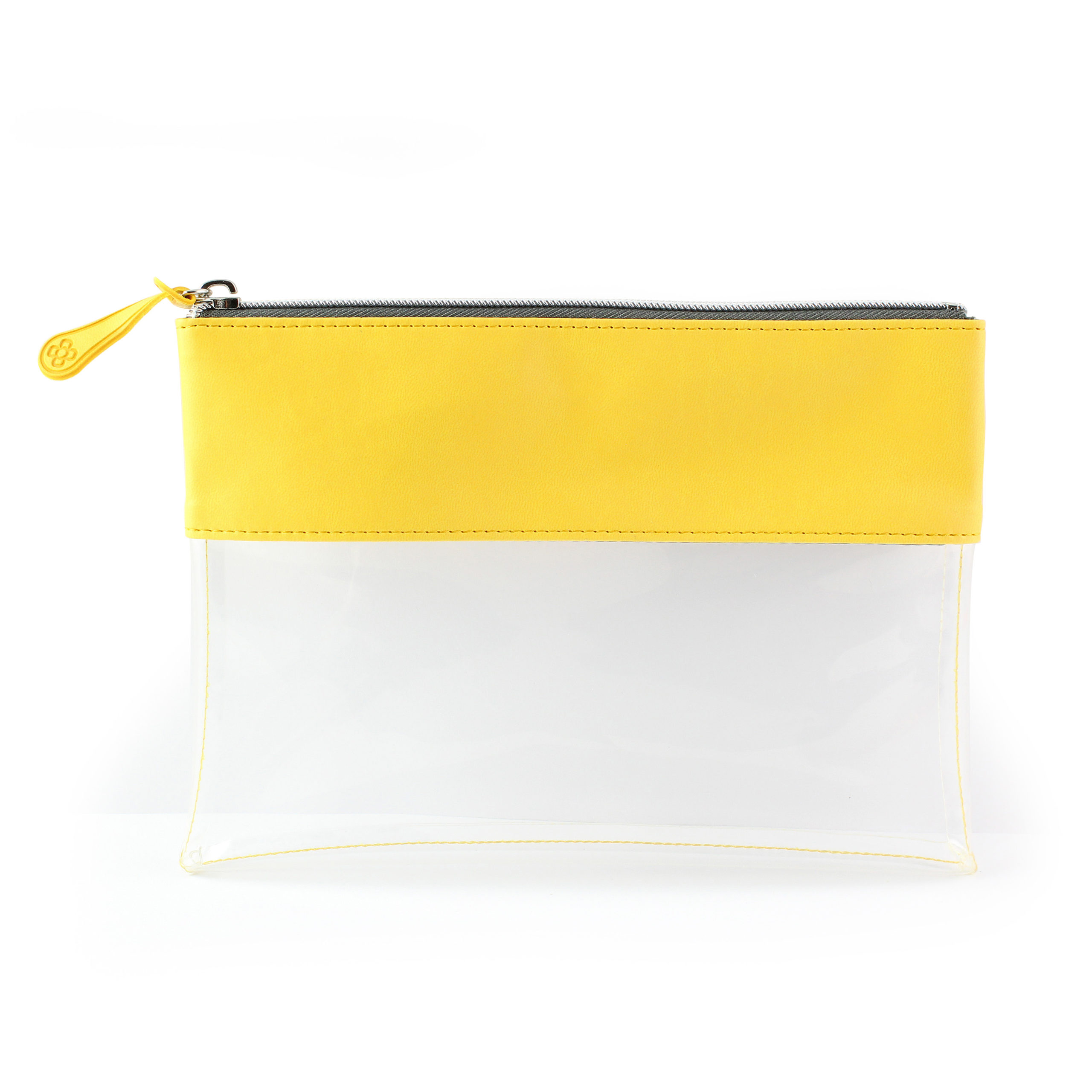 Sunflower Yellow Clear Pouch ideal as a travel pouch or pencil case.