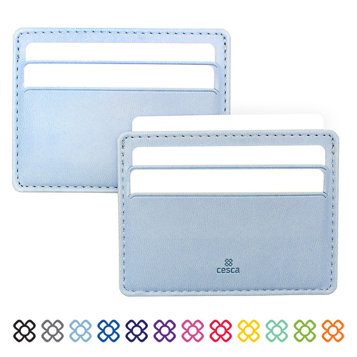 Soft Touch Cesca Slimline Card Wallet in a choice of 12 colours.