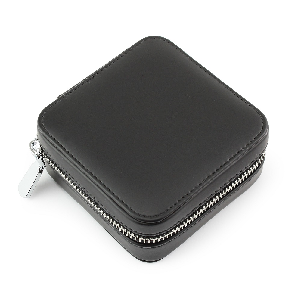 Black Zipped Jewellery Box.