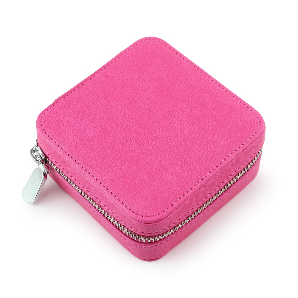 Hot Pink Zipped Jewellery Box.
