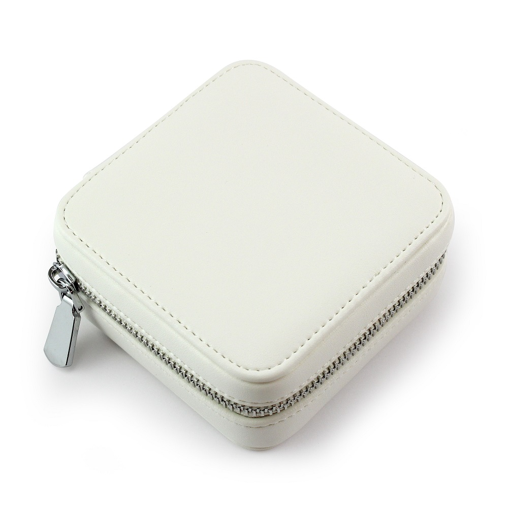 Ivory Zipped Jewellery Box.