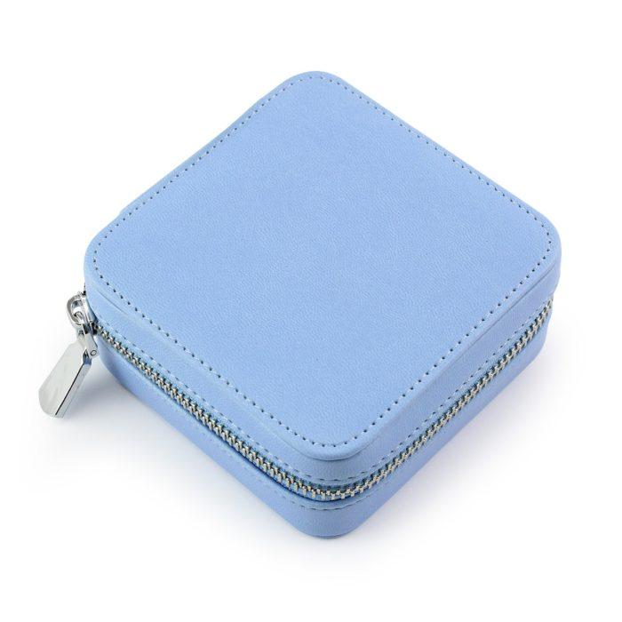 Powder Blue Zipped Jewellery Box.