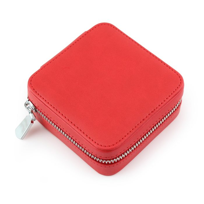 Tomato Red Zipped Jewellery Box.