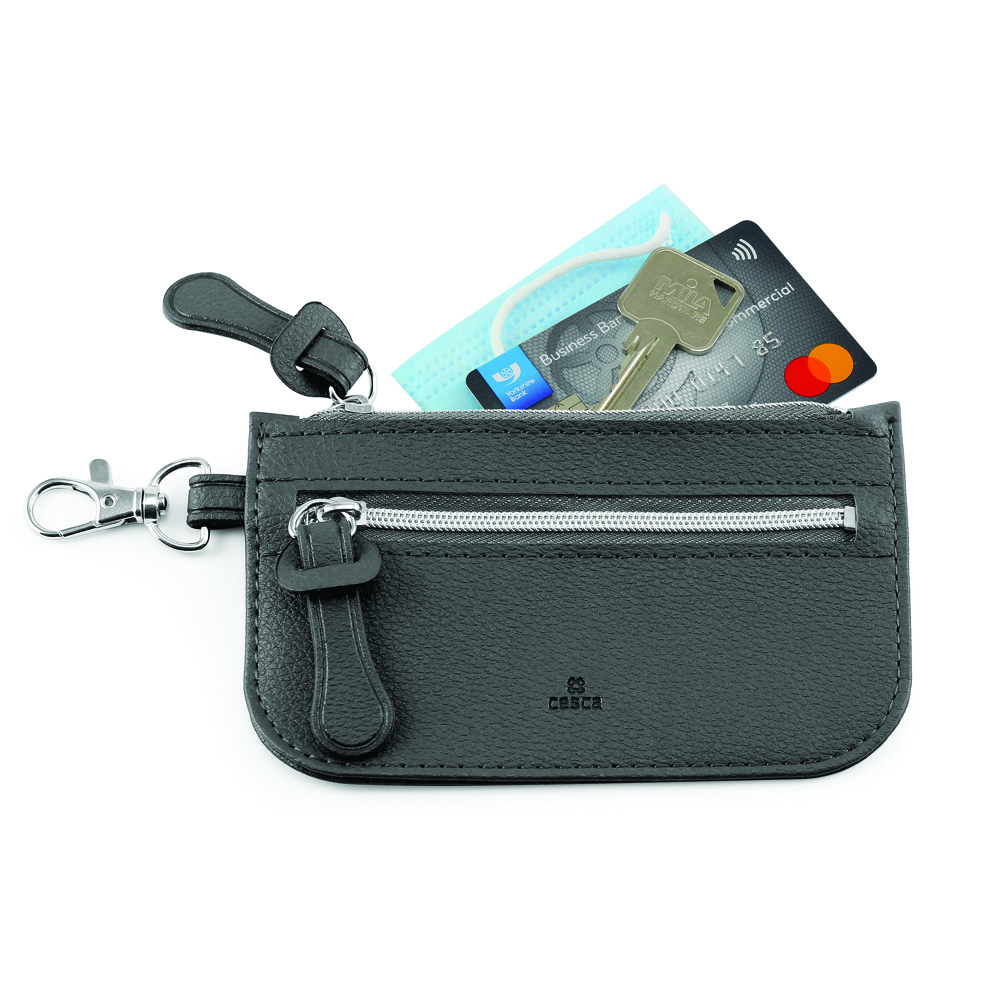 Como Recycled Mini Pouch in Black.