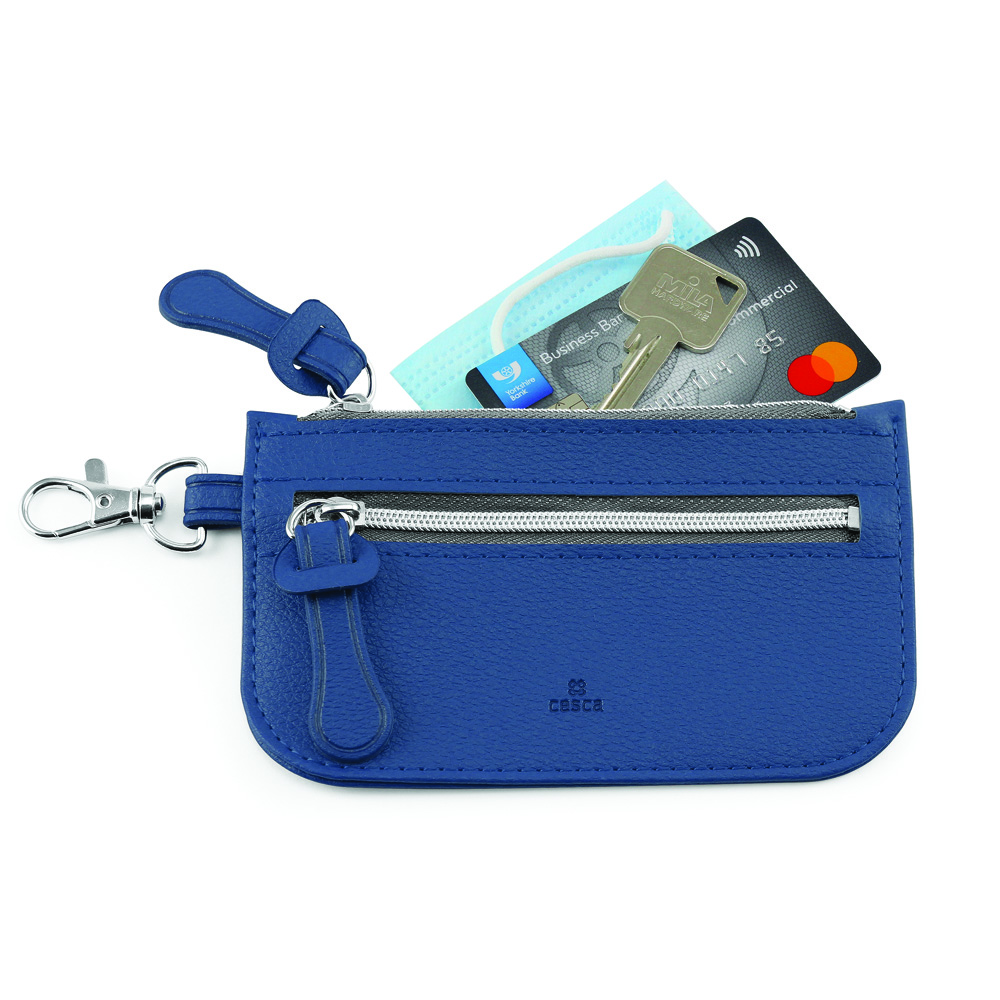 Como Recycled Mini Pouch in Blue