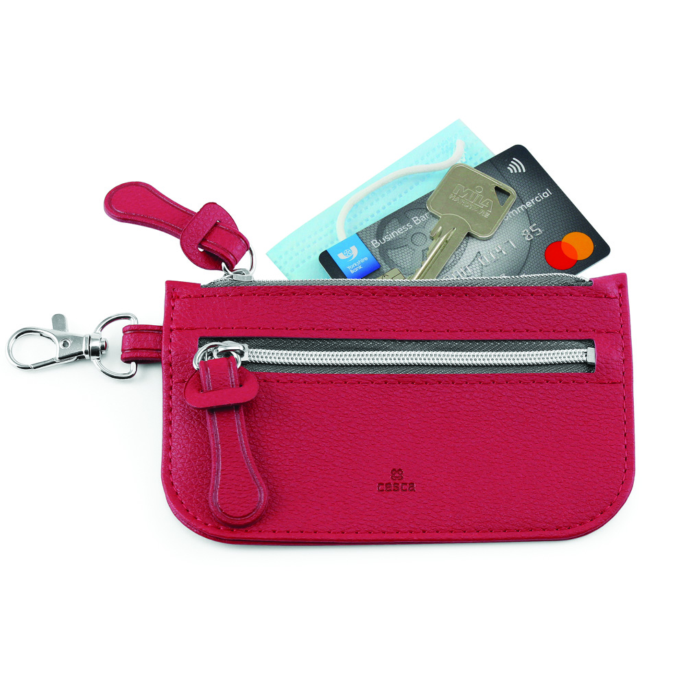 Como Recycled Mini Pouch in Raspberry