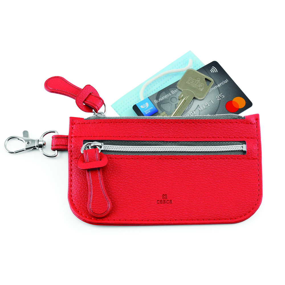 Como Recycled Mini Pouch in Red