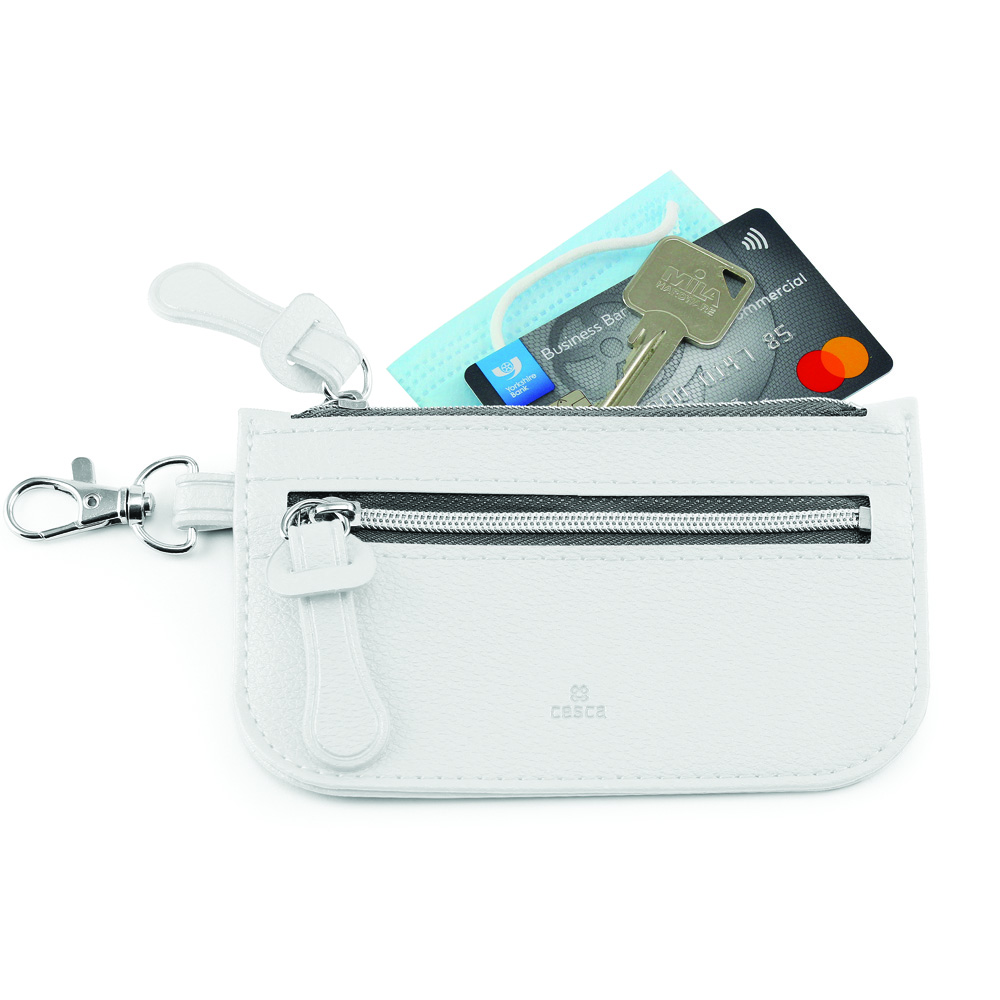 Como Recycled Mini Pouch in white.